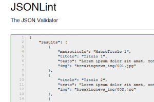 jsonlint screenshot